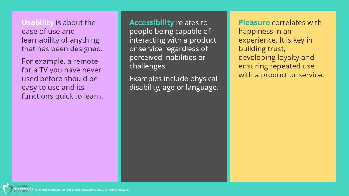 Usability, Accessibility and Pleasure in UX
